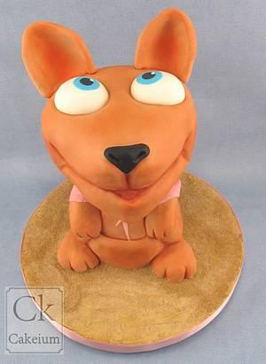 Bobble-head Kangaroo! - Cake by Natasha Shomali
