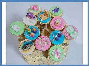 Pamper Party Cupcakes - Cake by Julie, I Baked Some Cakes
