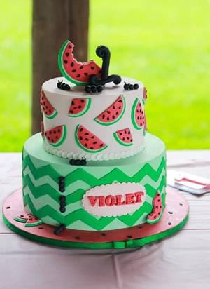 Watermelon Birthday - Cake by Something Sweet