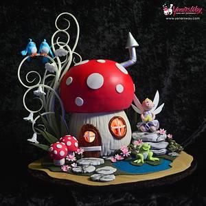 Toadstool Cake - Cake by Serdar Yener | Yeners Way - Cake Art Tutorials