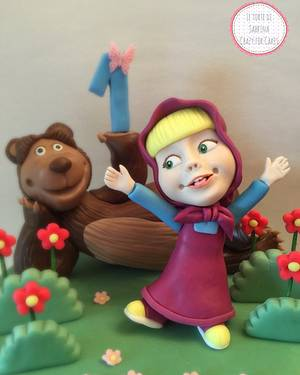 Masha and The bear  - Cake by Le torte di Sabrina - crazy for cakes