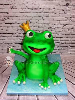 Frog prince - Cake by tweetylina