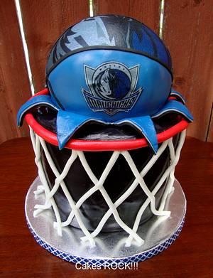Dallas Mavericks Basketball Cake - Cake by Cakes ROCK!!!
