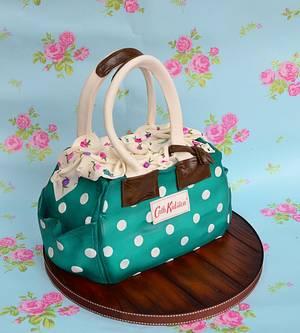 Teal handbag cake - Cake by Karen Keaney