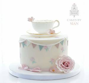 Edible Teacup cake - Cake by Cakes by Sian