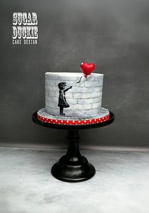 Girl with Red Balloon - Cake by Sugar Duckie (Maria McDonald)