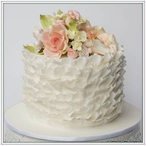 White wedding with pastel flowers - Cake by Jo Finlayson (Jo Takes the Cake)