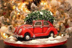 Driving home for Christmas - Cake by Maria's