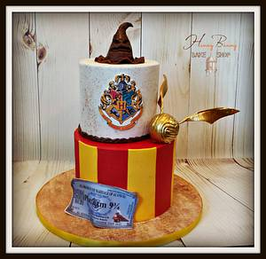 Harry Potter Wedding Shower - Cake by Honey Bunny Bake Shop