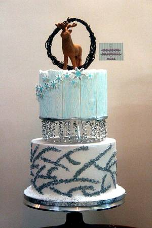 Dreaming of a White Christmas  - Cake by RupalsCakes (MACARONS MERINGUES &MORE )