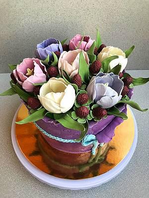Tulips cake - Cake by Julia