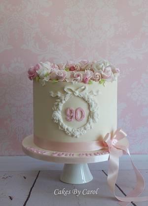 90th Roses - Cake by Carol