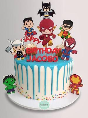 Torta de Super Héroes Bebés - Cake by Dulcepastel.com