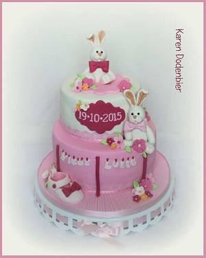 Twin girls - Cake by Karen Dodenbier