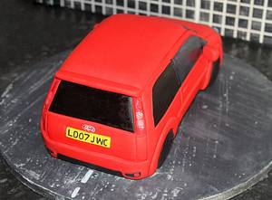 Red Ford Fiesta  - Cake by Cake Creations By Hannah