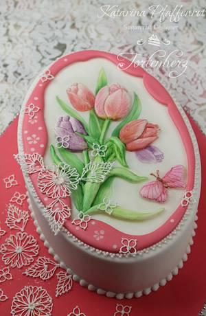 Spring tulips - Cake by Tortenherz