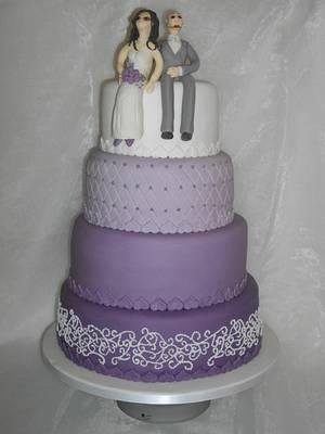 Parma violet wedding cake - Cake by Mandy