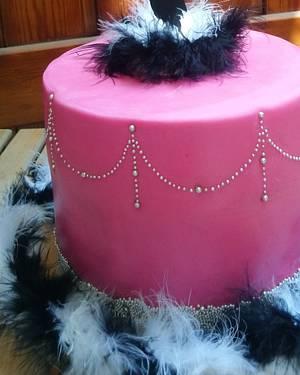 Pole dancer embroidery Cake - Cake by Cakeaya