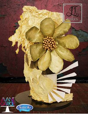 Avant Garde: Abstract Gold - Cake by JT Cakes