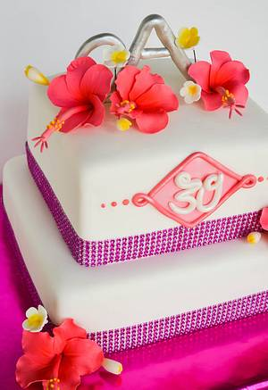 Hawaiian Bling - Cake by Sweet Creations by Sophie