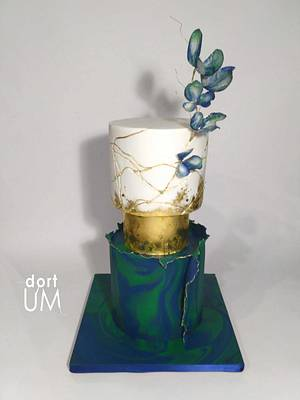 Peacock wedding cake - Cake by dortUM