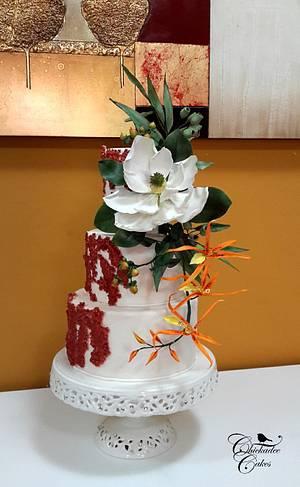 southern magnolia cake - Cake by Chickadee Cakes - Sara