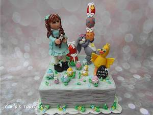 Fondant Cake Topper Sweet Easter Collaboration  - Cake by Carla