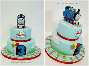 Train Thomas - Cake by leccalecca