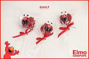 Elmo Cake Pops! - Cake by Guilt Desserts