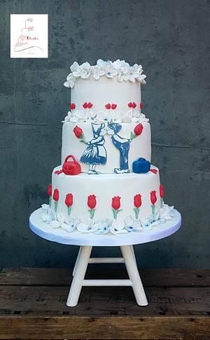 Dutch wedding cake - Cake by Judith-JEtaarten
