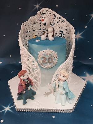Frozen for a grown up ;) - Cake by For goodness cake barlick
