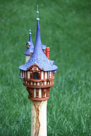 Tangled Rapunzel Tower - Cake by topthatparties