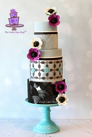 ANEMONE Cake for Floral Cakes Collaboration in Cake Craft Guide Magazine  - Cake by Violet - The Violet Cake Shop™