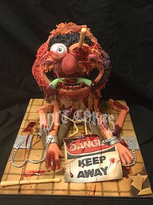 The Sugar Art Zombies Collaboration - Zombie Animal - Cake by kvltcakes