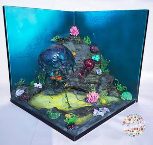 Jelly Fish - Old Curiosity Shop Collaboration - Cake by Baked4U
