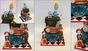 Alice in Wonderland - Cake by Nikki