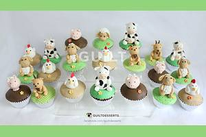 Farm Animals Cupcakes! - Cake by Guilt Desserts