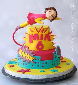 Superhero Mia! - Cake by Lovin' From The Oven