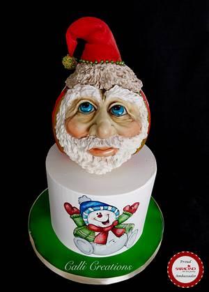 Santa Bauble Cake  - Cake by Calli Creations