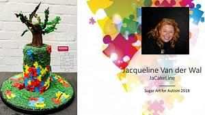 Sugar Art For Autism Collaboration #AutismAwareness #SugarArt4Autism #AcceptanceIsAwareness - Cake by Jacqueline