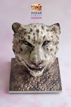 Snow Leopard - Cake by Sugar Street Studios by Zoe Burmester