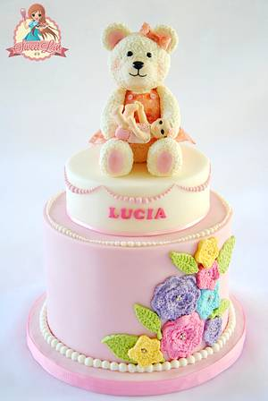 Lucia's One Month Party - Cake by SweetLin