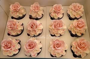 Wedding Rose Cupcakes - Cake by Mira - Mirabella Desserts