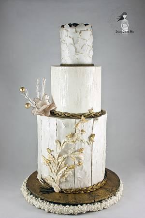 White & Gold Love - Cake by 2cute2biteMe(Ozge Bozkurt)