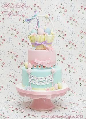 Sweet Easter cake...waiting for spring! - Cake by NanaeNanaCakes