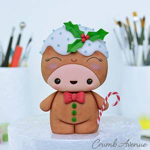 Cute Gingerbread Man - Cake by Crumb Avenue