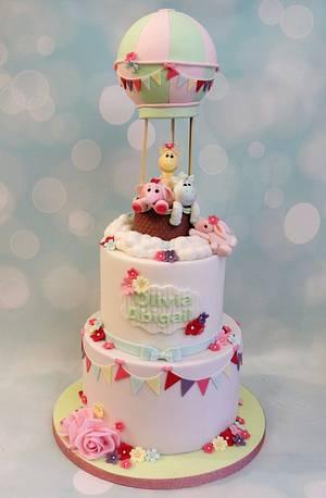 Christening Hot Air Balloon - Cake by Shereen