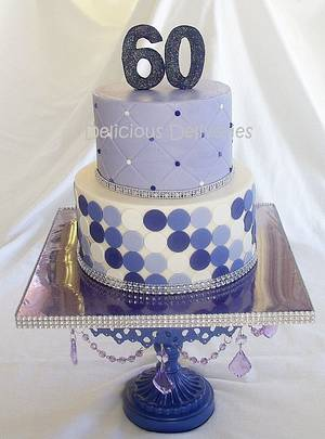 Shades of Purple Polka Dots - Cake by DeliciousDeliveries