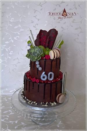 Birthday chocolate cake - Cake by Tortolandia