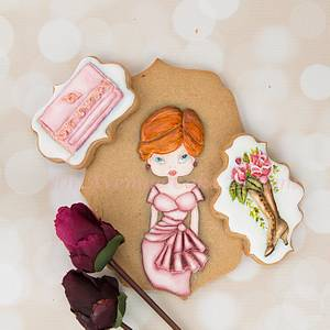 Dimensional Haute Couture Cookies 👗👝👠 - Cake by Bobbie